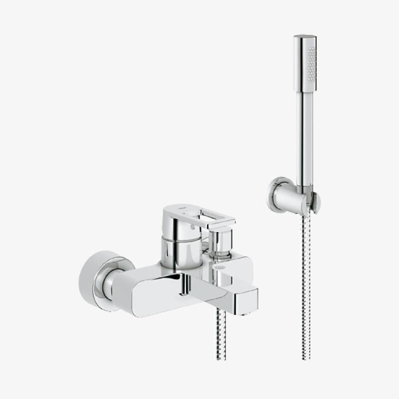 Mix vasca doccia con doccino quadra cromo grohe epicastore - Rubinetteria bagno grohe ...