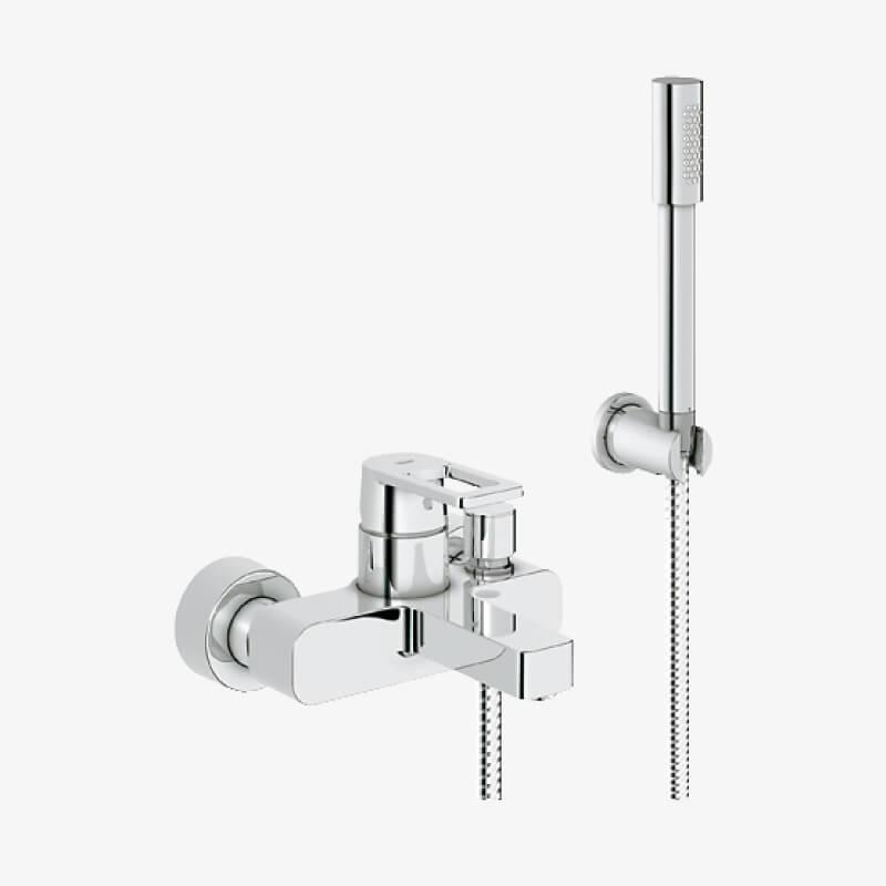 Mix vasca doccia con doccino quadra cromo grohe epicastore - Miscelatori grohe bagno ...