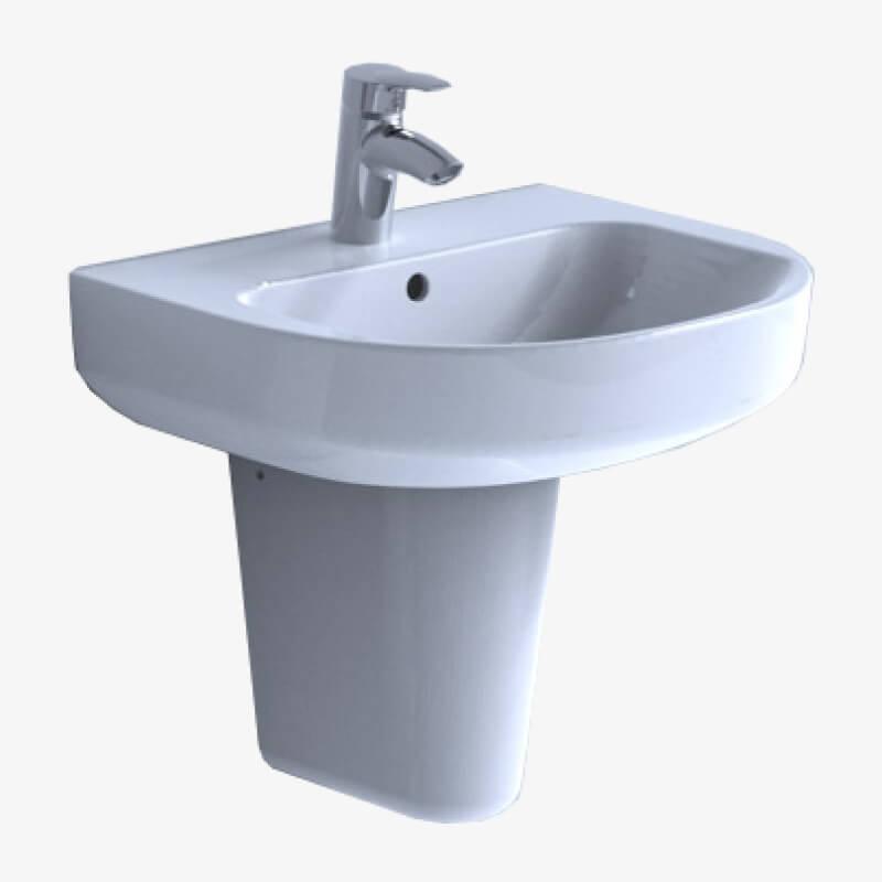 Lavabo 60 cristallo 60 x 48 1 ceramica dolomite epicastore - Sanitari bagno dolomite prezzi ...