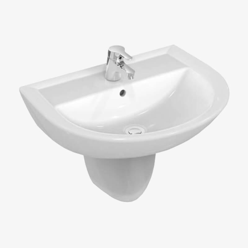 Lavabo 60 quarzo 60 x 47 ceramica dolomite epicastore - Sanitari bagno dolomite ...
