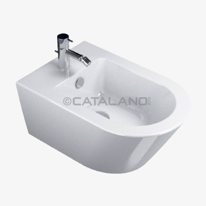 Bidet sospeso zero 55 35 x 55 ceramica catalano epicastore - Dimensioni sanitari bagno ...