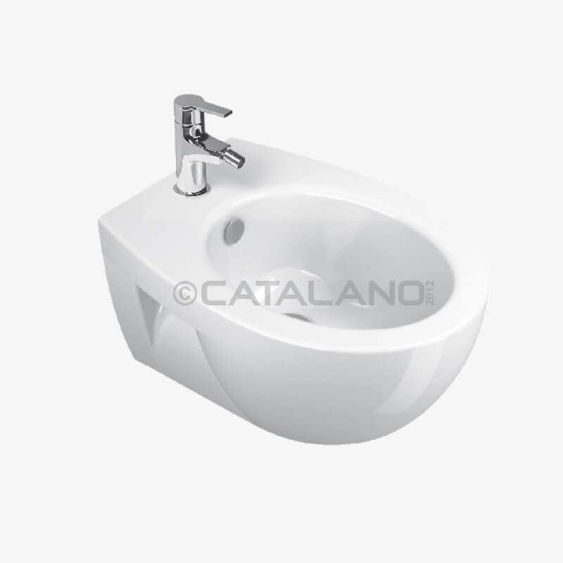 Bidet sospeso new light 52 37 x 52 ceramica catalano for Ceramica catalano