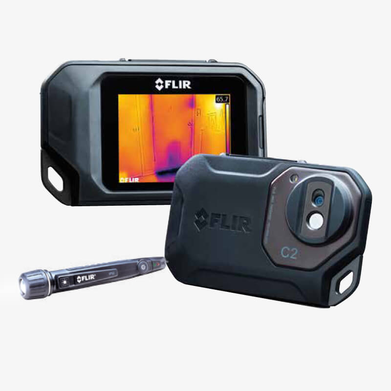 Kit termocamera c2 p rivelatore di tensione vp52 flir - Termocamera prezzi ...